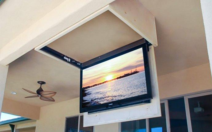 для телевизора на потолок своими руками
