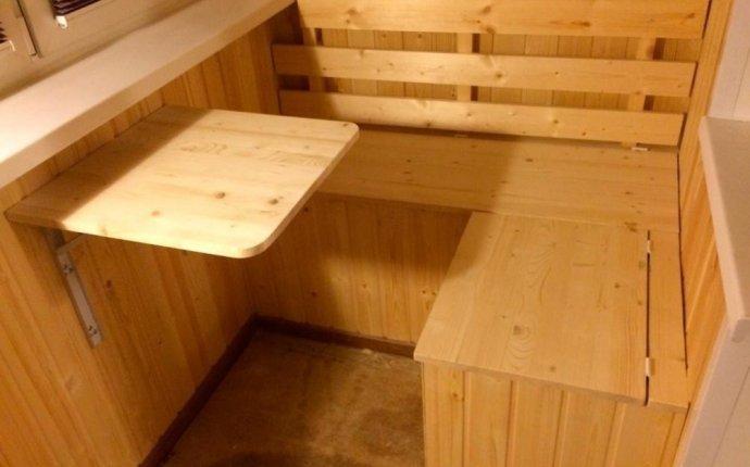 Примеры изготовления тумбочек для балконов и лоджий